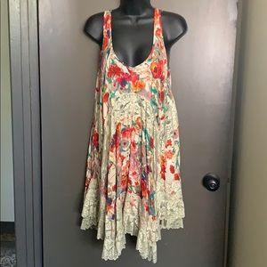 NWT VIZIO size S multicolored floral dress